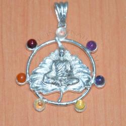 Buddha On leaf Chakra pendant