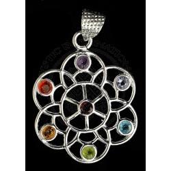 Flower Of Life Chakra Pendant