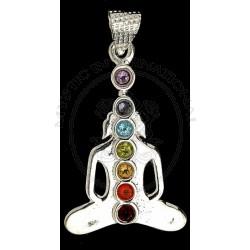 Meditation Buddha Chakra Pendant