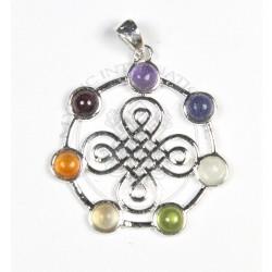 Buddhist Knot Chakra Pendant