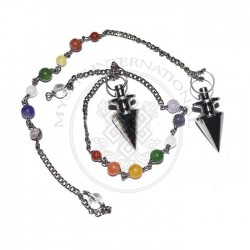 Bajrang Black Metal Pendulums with Chakra Chain
