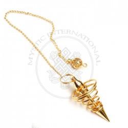Golden Spring Metal Pendulums