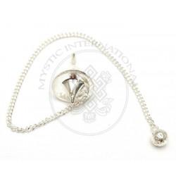 Silver Disc Dowsing Pendulums