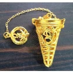 Om Gold Cage Pendulum