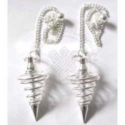 Silver Plated Spiral Pendulums