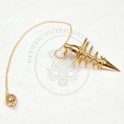 Gold Spiral Metal Pendulums