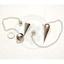 Silver Open Screw Metal Pendulums