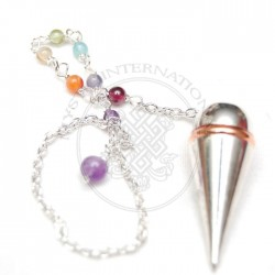Silver Open Screw Metal Pendulums with chakra