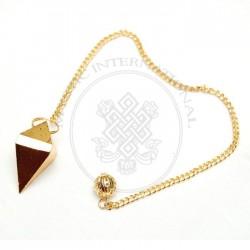 Gold Faceted Metal Pendulums
