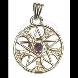 celtic pentagram amethyst pendant