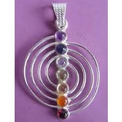 Spiral Chakra Pendants