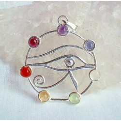 Horus Eye Chakra Pendant