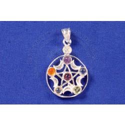 moon pentacle chakra pendant
