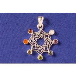 celtic mandala chakra pendant