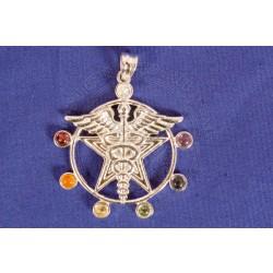 Caduceus Chakra Pendant