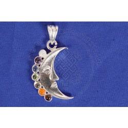 Cresent Moon Chakra Pendant