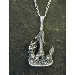 quan yin dragon pendant