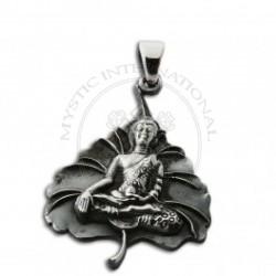 Buddha on Leaf  Pendant