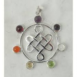 Buddhist knot chakra Pendants