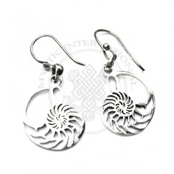 nautilus shell sacred geomatry earrings