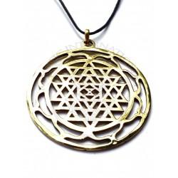 sri yantra mandala pendant
