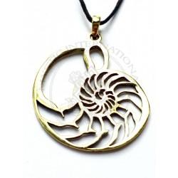 nautilus shell sacred geomatry pendant