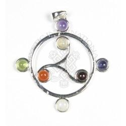 circle of triskel chakra pendant