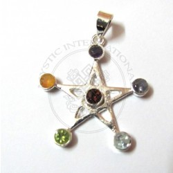 pentagram chakra pendant