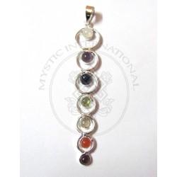 seven circle of chakra pendant