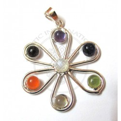 flower chakra pendant