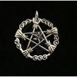 Broom Wicca Pendant